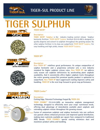 TIGER Sul Products - Tiger-Sul - PDF Catalogs | Technical