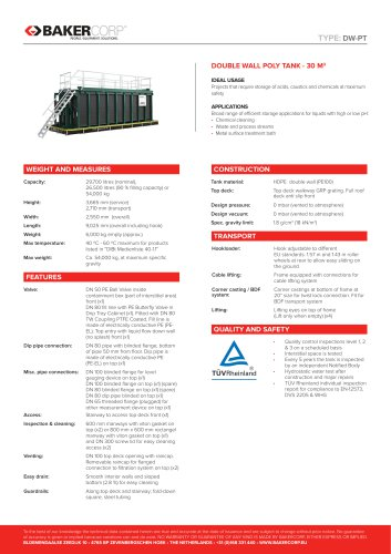DOUBLE WALL POLY TANK - 30 M3