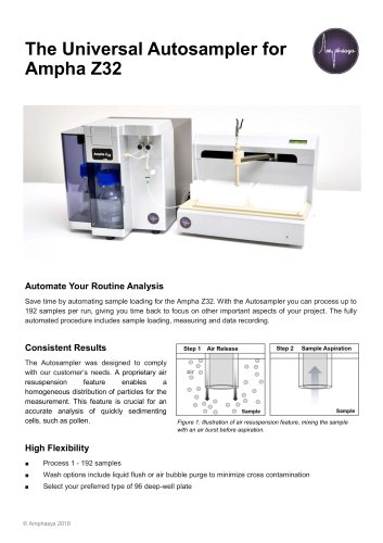 Autosampler for Ampha Z32 Pollen Analyzer - Amphasys AG