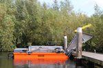 colheitadeira de algas / barco