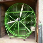 ventilador para galpão agrícola / de extração / móvel / com hélice