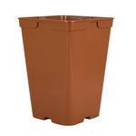 vaso em plástico / quadrado / preto / marron