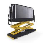 carrinho de transporte para estufa / com plataforma / metálico / para trilho