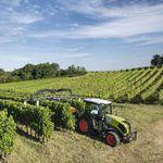 schmaler Traktor / Lastschaltung / für Obstbaumkultur / mit Kabine