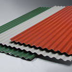 Dachplatte aus glasfaserverstärktem Polyester