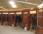 Modulstall / für Pferde / rund