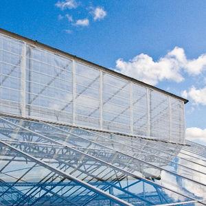 batiente para invernadero / de cumbrera / con red antiinsectos / para ventilación