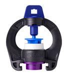 microaspersor con regulación de caudal / rotativo / con pico