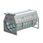 filtro para la acuicultura / de tambor / con purga de agua / de acero
