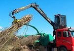 cargadora forestal para trituradora de ramas