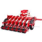 semoir en ligne pneumatique / 12 rangs / monté sur tracteur / avec contrôle de la profondeur