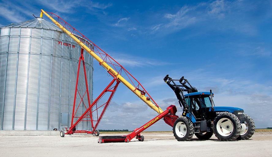 Grain conveyor / screw / mobile / swing-away - MKX 130