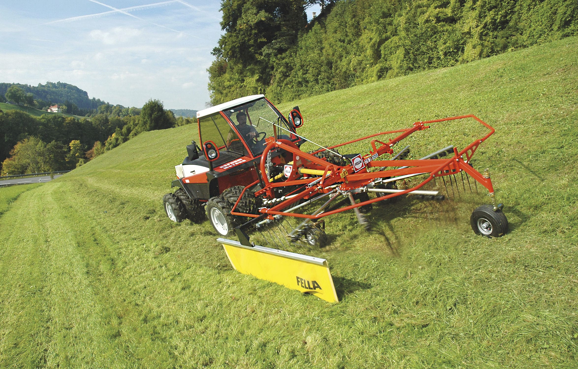 Rotary swather rake / side delivery - JURAS 301 DS - 351 DS