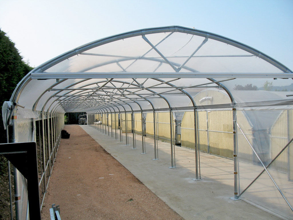 Monotunnel greenhouse / commercial production / aluminum