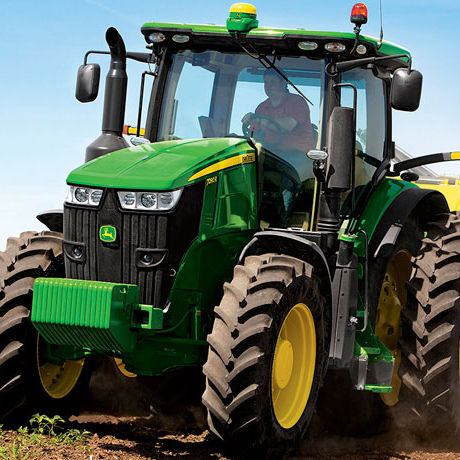 Power-shift tractor / infinately variable / with cab / front PTO