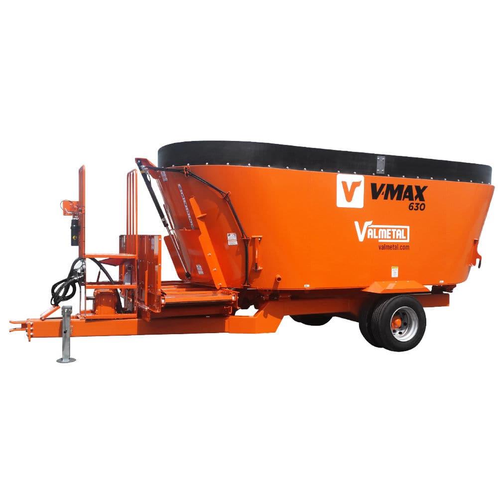Vertical mixer / trailed / 2-auger - V-MAX – TMR - Valmetal