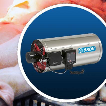 Gas air heater - SKOV A/S - pig barn / poultry house