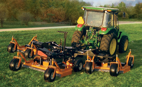 Landscaping finishing mower / rear-mount / PTO-driven
