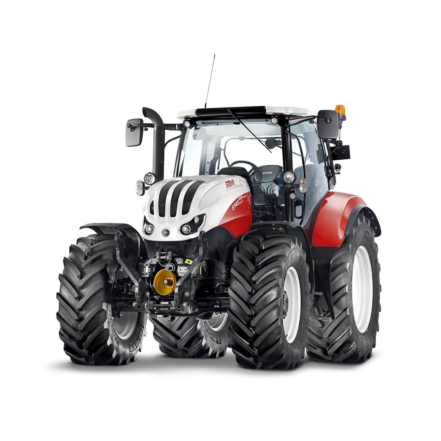 Power-shift tractor / with cab / front PTO / with front-loader