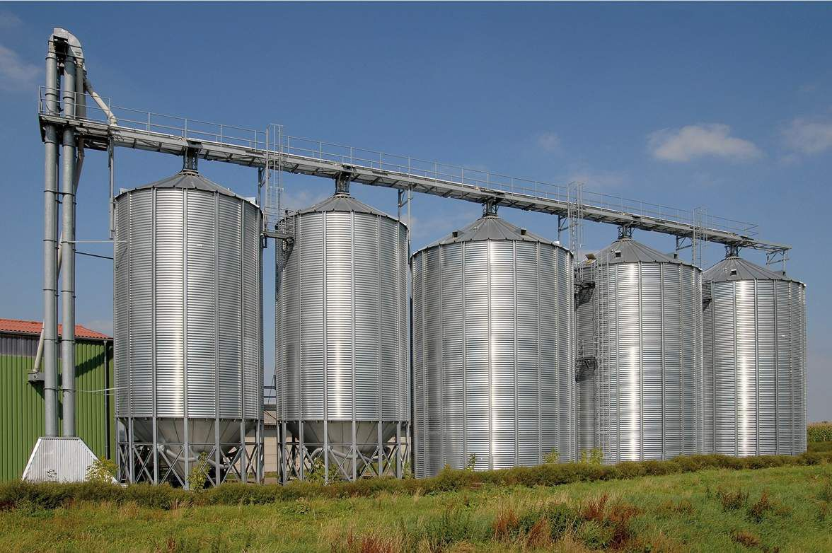 Grain silo / steel / round / hopper - Buschhoff GmbH & Co