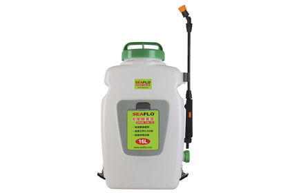 Hand backpack sprayer / garden / electric / with piston pump