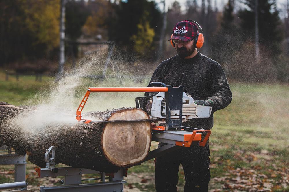 Chain sawmill / horizontal / portable / crosscut - F2 Series