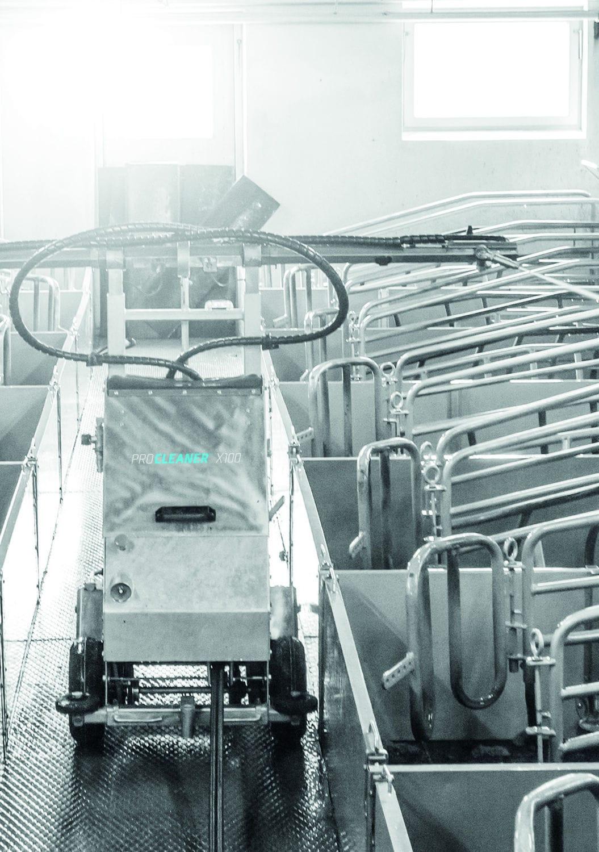 Cleaning farm robot / autonomous / pig barn - ProCleaner X100