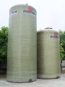 slurry tank / vertical / fiberglass