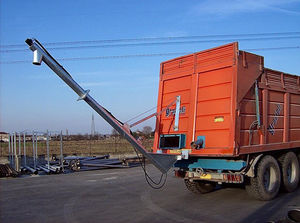 grain conveyor / fertilizer / screw / inclined