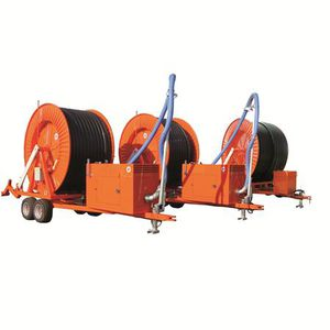irrigation hose reel / turbine-drive / with pumping system