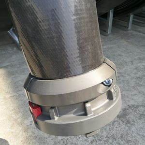 straight coupling / aluminum / double / round