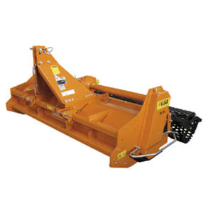 stone burier with hydraulic adjustment