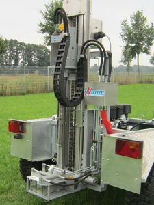 mounted soil sampler / hydraulically-operated