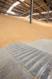 metal drying plate / for grain