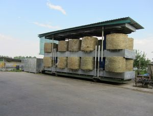 hay dryer / stationary / for round bales