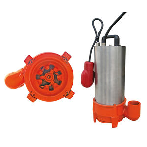 submersible pump / slurry / impeller / with chopper