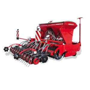 hopper seed drill / 3-point hitch / with disc harrow