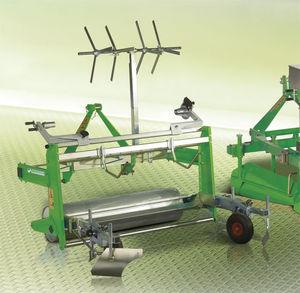 semi-automatic plastic mulch unroller