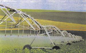 center irrigation pivot / mobile / wheel-mounted