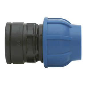 straight compression irrigation fitting / threaded / PVC