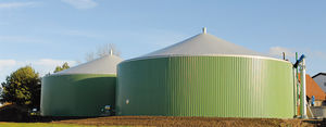 biogas tank / vertical / flexible