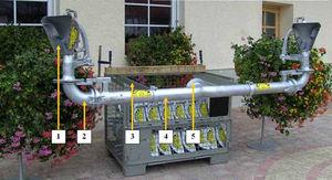 slurry tanker plate spreader / dual-nozzle