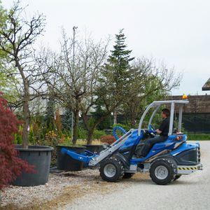 skid steer loader tree spade