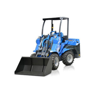 rubber-tired loader / with cab / compact / mini