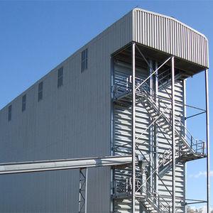 grain silo / galvanized steel / stainless steel / steel