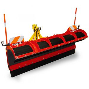 straight snow plough / on 3-point tractor front linkage