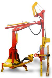 hydraulic post driver / tractor-mounted