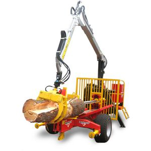 PTO-driven log splitter / tractor-mounted / horizontal / automatic