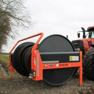 manure hose reel / hydraulic drive / tractor-mounted