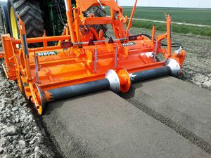 2-row bed former / for vegetables / with roller